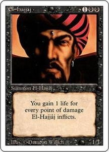 Magic the Gathering Revised Edition Single Card Rare El-Hajjaj