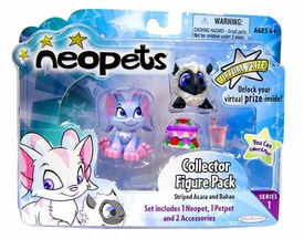 Neopets Series 1 Mini Vinyl Collector Figure 2-Pack [Striped Acara & Babaa Petpet]