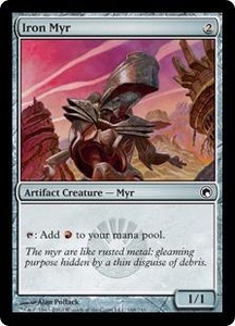 Magic the Gathering Scars of Mirrodin Single Card Common #168 Iron Myr