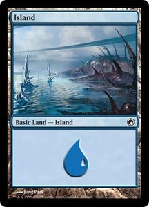 Magic the Gathering Scars of Mirrodin Single Card Land #234 Island [Random Artwork]