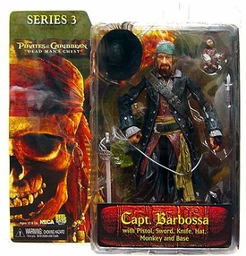 NECA Pirates of the Caribbean Dead Man's Chest Series 3 Action Figure Captain Hector Barbossa