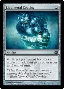 Magic the Gathering Scars of Mirrodin Single Card Uncommon #171 Liquimetal Coating