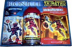 LEGO Bionicle Limited Edition Ta-Metru Collector Pack Set #65545 Nuhrii & Toa Vakama