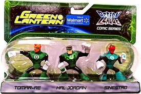 Green Lantern Action League Comic Series 3-Pack Tomar-Re, Hal Jordan, Sinestro