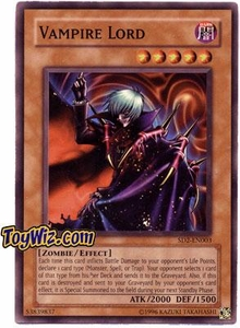 YuGiOh GX Zombie Madness Single Card Vampire Lord SD2-EN003