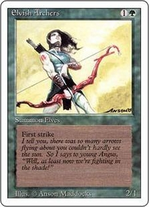 Magic the Gathering Revised Edition Single Card Rare Elvish Archers Slightly Played Condition