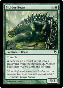 Magic the Gathering Scars of Mirrodin Single Card Common #125 Molder Beast