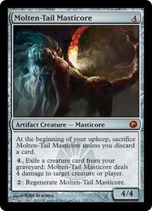 Magic the Gathering Scars of Mirrodin Single Card Mythic Rare #177 Molten-Tail Masticore