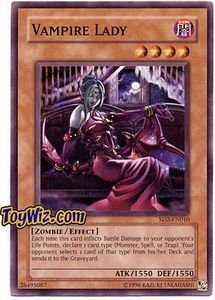 YuGiOh GX Zombie Madness Single Card Vampire Lady SD2-EN010