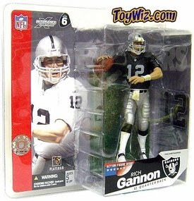 McFarlane Toys NFL Sports Picks Series 6 Action Figure Rich Gannon (Oakland Raiders) Black Jersey