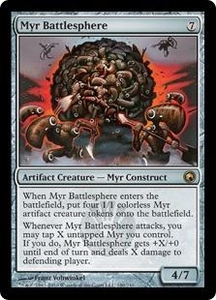 Magic the Gathering Scars of Mirrodin Single Card Rare #180 Myr Battlesphere