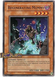 YuGiOh GX Zombie Madness Single Card Regenerating Mummy SD2-EN012