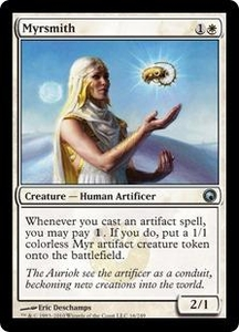 Magic the Gathering Scars of Mirrodin Single Card Uncommon #16 Myrsmith