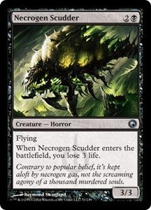 Magic the Gathering Scars of Mirrodin Single Card Uncommon #71 Necrogen Scudder
