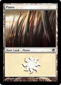 Magic the Gathering Scars of Mirrodin Single Card Land #230 Plains [Random Artwork]