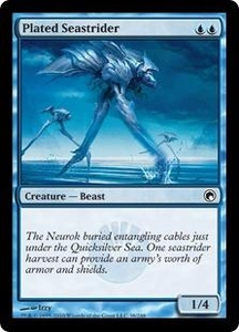 Magic the Gathering Scars of Mirrodin Single Card Common #38 Plated Seastrider