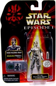 Star Wars Phantom Menace TC-14 Protocol Droid [With Serving Tray]