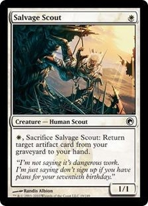 Magic the Gathering Scars of Mirrodin Single Card Common #19 Salvage Scout