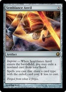 Magic the Gathering Scars of Mirrodin Single Card Rare #201 Semblance Anvil
