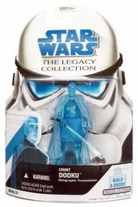 Star Wars 2008 Legacy Collection Build-A-Droid Action Figure BD No. 21 Count Dooku [Hologram]
