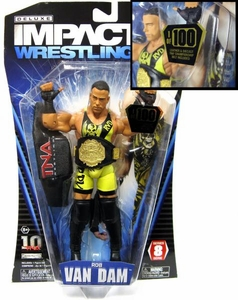TNA Wrestling Impact Series 8 Figure Rob Van Dam RVD RARE CHASE 1 /100 Metal & Leather Belt!