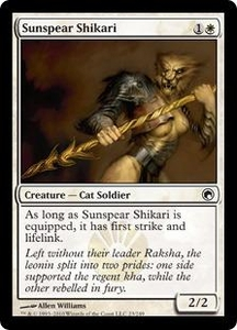 Magic the Gathering Scars of Mirrodin Single Card Common #23 Sunspear Shikari