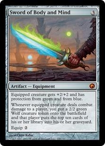 Magic the Gathering Scars of Mirrodin Single Card Mythic Rare #208 Sword of Body and Mind