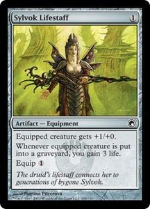 Magic the Gathering Scars of Mirrodin Single Card Common #209 Sylvok Lifestaff