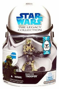 Star Wars 2008 Legacy Collection Build-A-Droid Action Figure GH No. 02 Kashyyyk Scout Trooper [First Day of Issue]