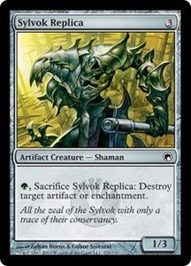 Magic the Gathering Scars of Mirrodin Single Card Common #210 Sylvok Replica
