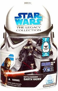 Star Wars 2008 Legacy Collection Build-A-Droid Action Figure GH No. 03 Force Unleashed Battle Damaged Darth Vader [First Day of Issue]