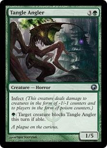 Magic the Gathering Scars of Mirrodin Single Card Uncommon #128 Tangle Angler