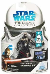 Star Wars 2008 Legacy Collection Build-A-Droid Action Figure GH No. 03 Force Unleashed Battle Damaged Darth Vader