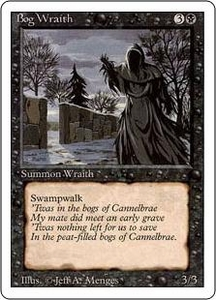 Magic the Gathering Revised Edition Single Card Uncommon Bog Wraith