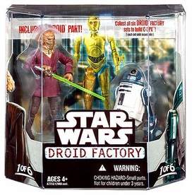 Star Wars Saga 2008 Build-A-Droid Exclusive Action Figure 2-Pack Plo Kloon & R4-F5