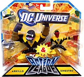 DC Universe Action League Mini Figure 2-Pack Arkillo & Sinestro