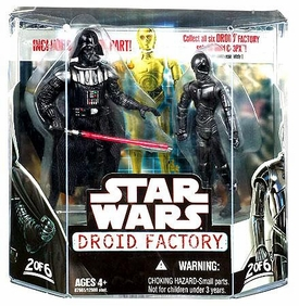 Star Wars Saga 2008 Build-A-Droid Exclusive Action Figure 2-Pack Darth Vader & K-3PX