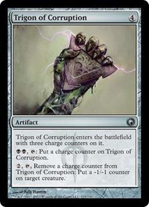 Magic the Gathering Scars of Mirrodin Single Card Uncommon #213 Trigon of Corruption