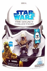 Star Wars 2008 Legacy Collection Build-A-Droid Action Figure BD No. 04 Ewoks: Leektar & Nippet 2-Pack [First Day of Issue]