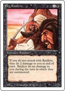 Magic the Gathering Revised Edition Single Card Common Erg Raiders