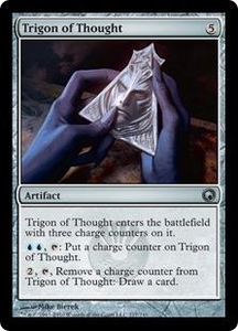 Magic the Gathering Scars of Mirrodin Single Card Uncommon #217 Trigon of Thought