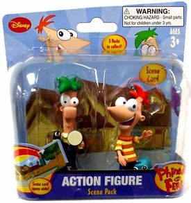 Disney Phineas and Ferb Mini Figure Scene 2-Pack Phineas & Ferb [In Street with Drill and Sander]