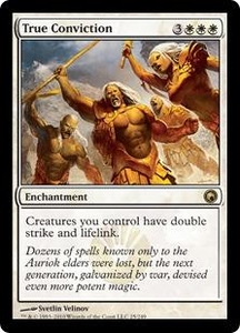 Magic the Gathering Scars of Mirrodin Single Card Rare #25 True Conviction