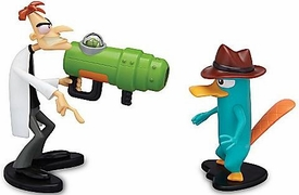 Disney Phineas and Ferb Mini Figure 2-Pack Dr. Doofenshmirtz & Agent P. [Backfiring UglyinatorGun]