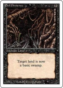 Magic the Gathering Revised Edition Single Card Uncommon Evil Presence