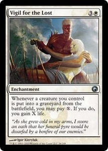 Magic the Gathering Scars of Mirrodin Single Card Uncommon #26 Vigil for the Lost