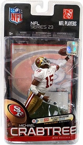 McFarlane Toys NFL Sports Picks Series 23 Action Figure Michael Crabtree (San Francisco 49ers) White Jersey Bronze Collector Level Chase Only 1,000 Made!
