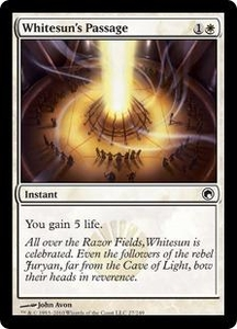 Magic the Gathering Scars of Mirrodin Single Card Common #27 Whitesun's Passage