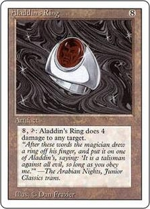 Magic the Gathering Revised Edition Single Card Rare Aladdin's Ring