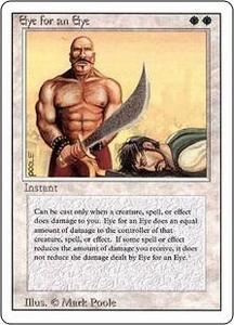 Magic the Gathering Revised Edition Single Card Rare Eye for an Eye